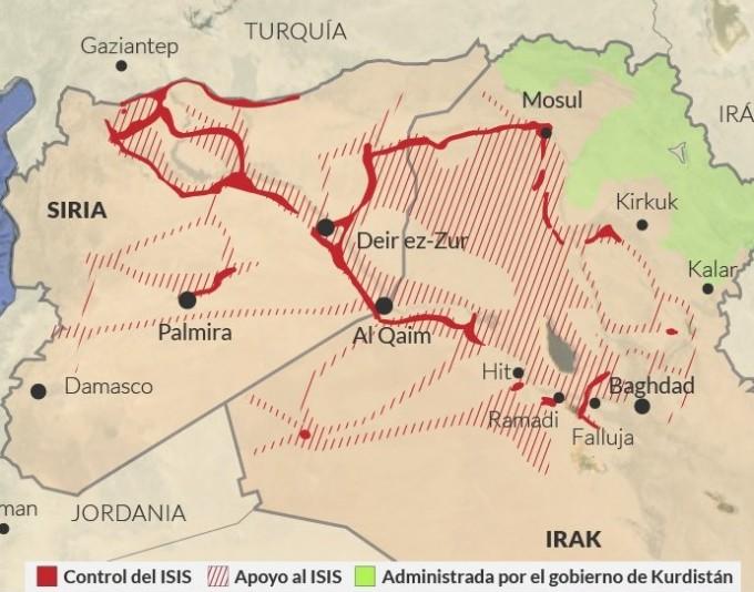 territorios tomados por isis