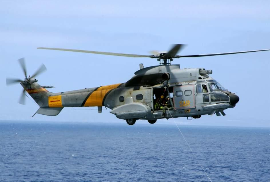 Helicóptero Super Puma del Servicio de Búsqueda y Rescate (SAR) del Ejército del Aire