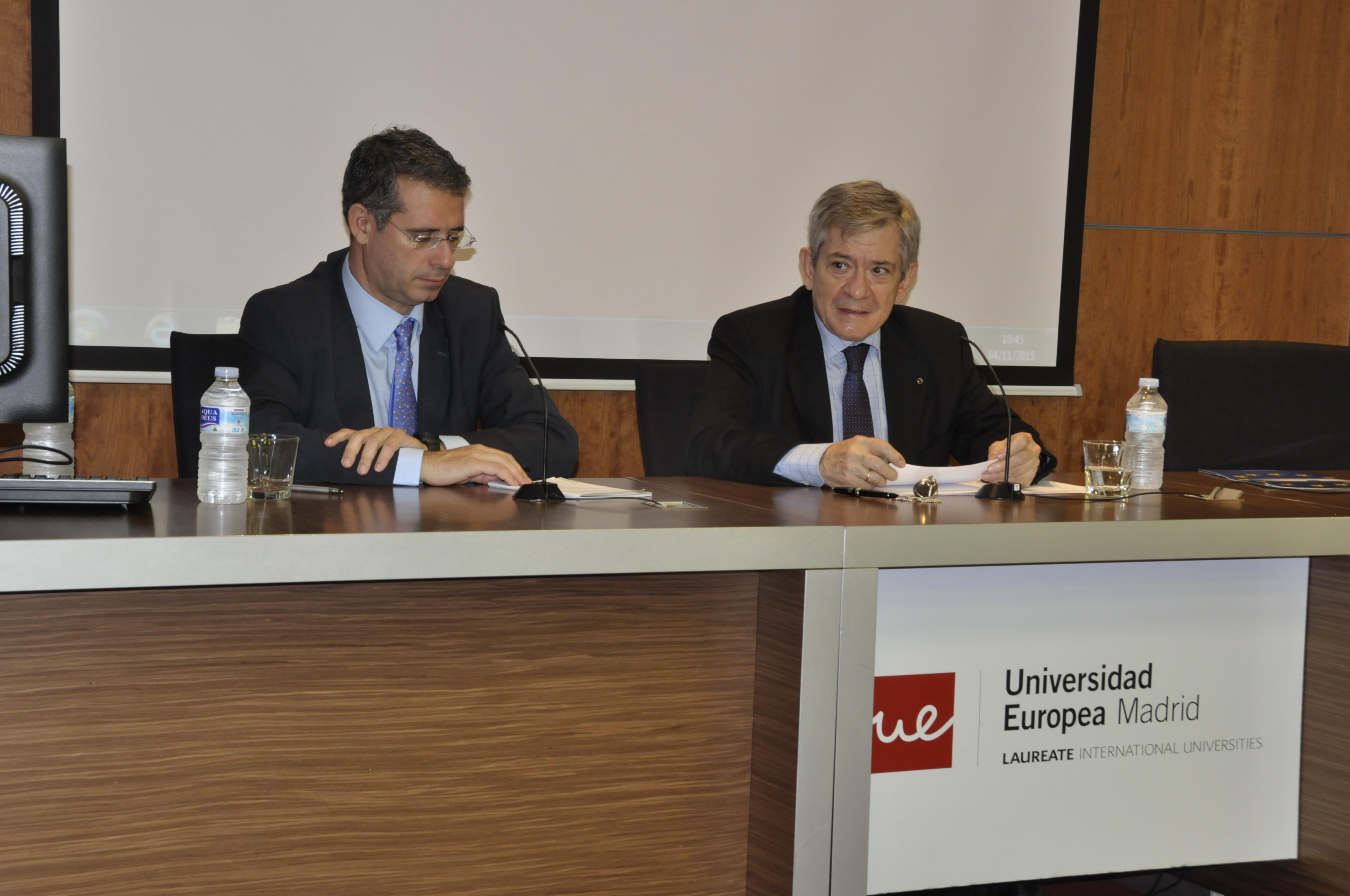 Enrique Barón junto a Miguel Ángel Benedicto