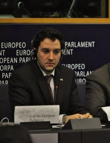 Eduardo García en el Parlamento Europeo