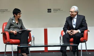 La Rectora de la Universidad Europea de Madrid con el presidente Ernesto Zedillo