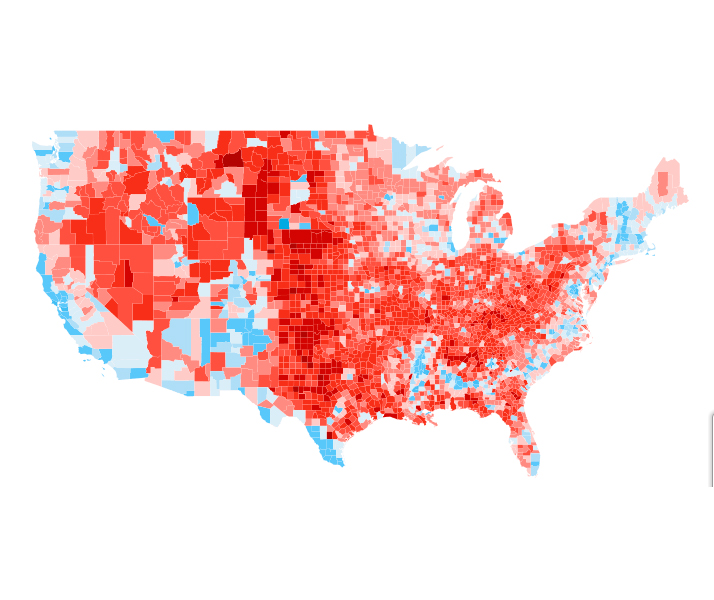 us presidential results by county