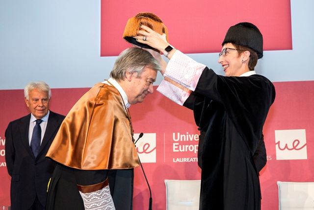 Antonio Guterres Honoris Causa por la Universidad Europea