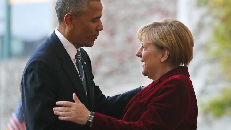 Obama y Merkel juntos en la última visita internacional como Presidente