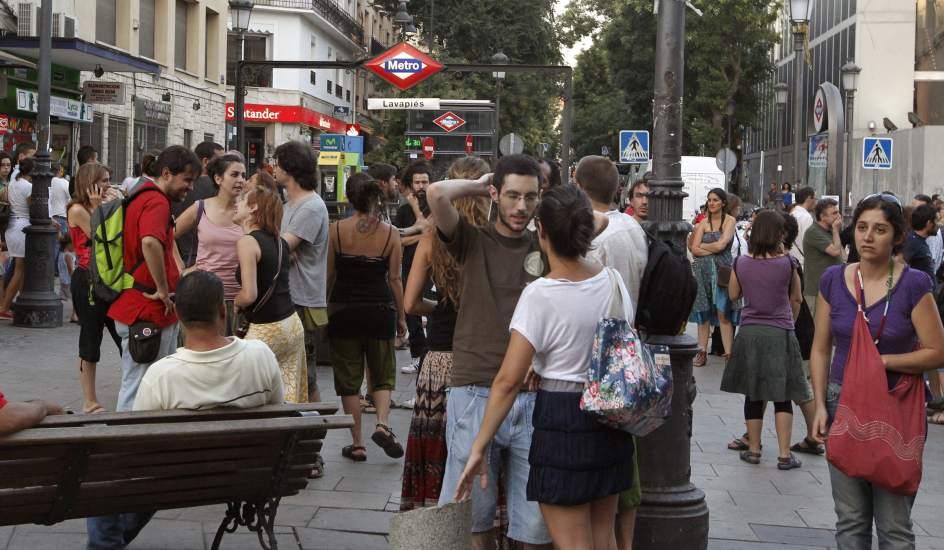Una imagen del barrio de Lavapiés