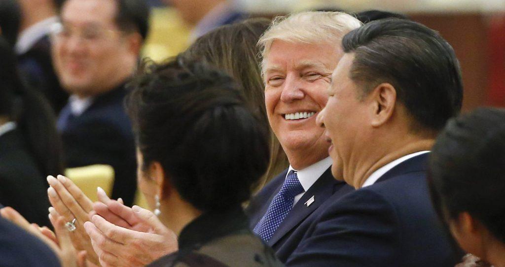 Donald Trump y Xi Jinping, este jueves en Pekín - GETTY IMAGE