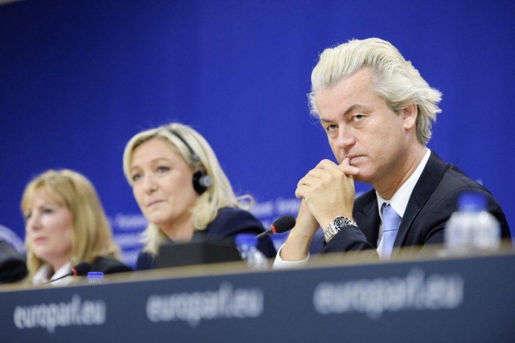 Wilders y LePen en un meeting en el Parlamento Europeo. Foto: EFE