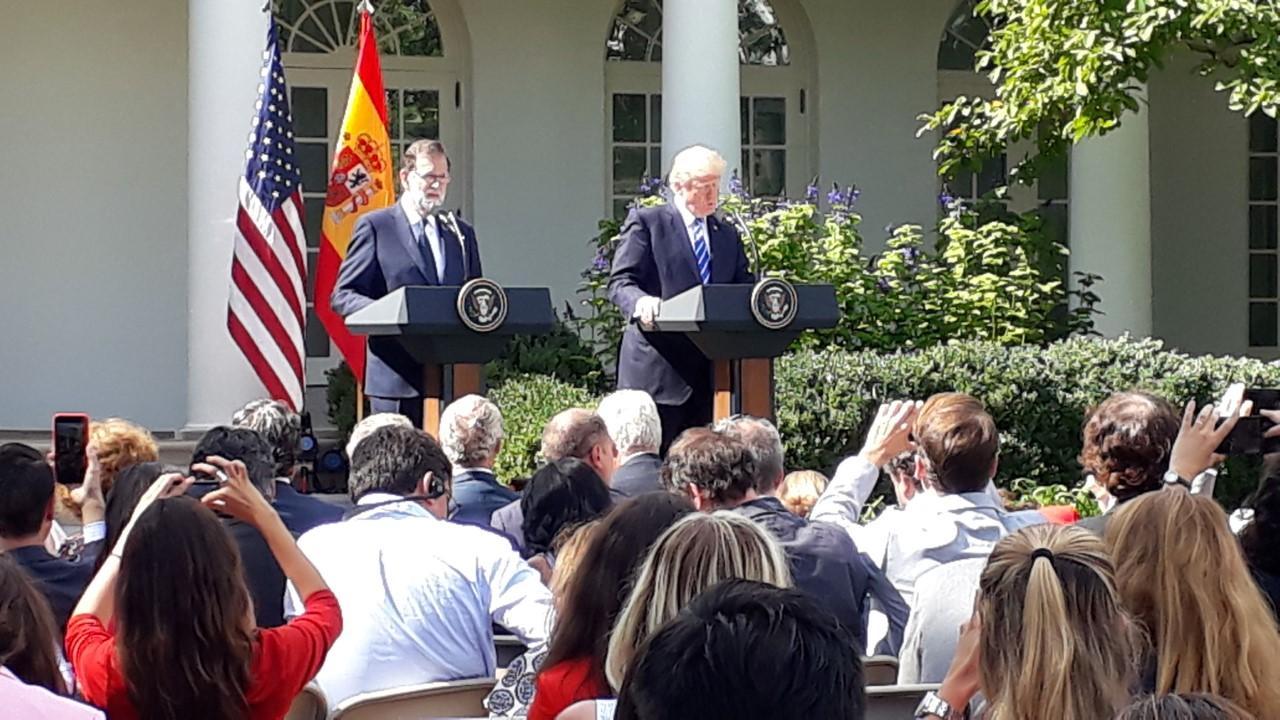 Mariano Rajoy en un encuentro con Donald Trump