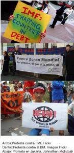 Protestas Banco Mundial FMI