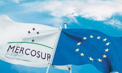 Banderas Mercosur y UE. Imagen:  El Cronista