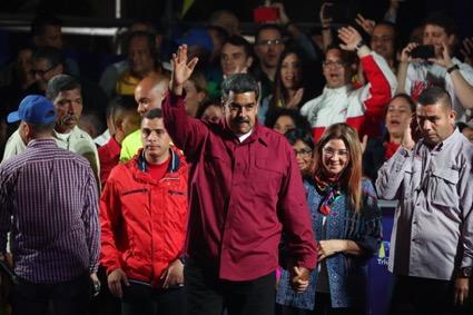 Nicolás Maduro celebra su victoria el pasado domingo. FOTO: EFE