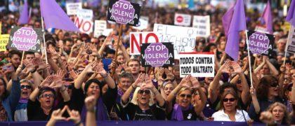 Manifestación contra la violencia machista en Madrid