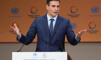 Pedro Sánchez en la cumbre de la ONU en Marrakech. Fuente: El Mundo.