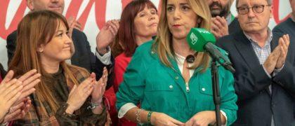 Susana Díaz tras conocer los resultados. (EFE)