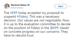 Twitter de Weber