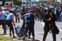 Represión en Nicaragua. Fotografía: Kaosenlared.net