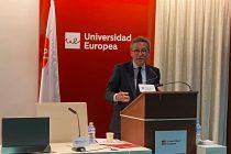 José Mª Lassalle inaugurando las Jornadas de Relaciones Internacionales en la Universidad Europea