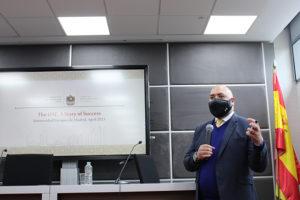 Majid Al Suwahidi, embajador Emiratos Árabes Unidos en el campus de Villaviciosa de Odón de la Universidad Europea.